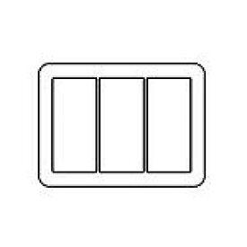 WTV6103F2 パナソニック [ラウンド] スイッチプレート(3連用)(ライトブロンズ)