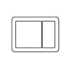 WTV6123F2 パナソニック [ラウンド] スイッチプレート(2連接穴+1連用)(ライトブロンズ)
