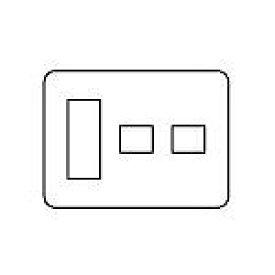 WTV6275A2 パナソニック [ラウンド] Fプレート(3コ+1コ+1コ用)(ダークブラウン)