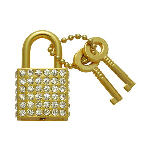 南京錠 鍵 かわいい おしゃれ ファッショナブルパドロック FUKI フキ RP-30 クリア 30480430