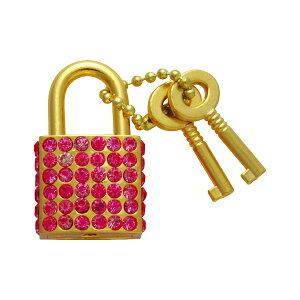 南京錠 鍵 かわいい おしゃれ ファッショナブルパドロック FUKI フキ RP-31 ピンク 30480431