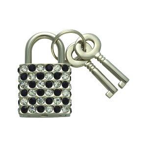 南京錠 鍵 かわいい おしゃれ ファッショナブルパドロック FUKI フキ RP-32 ホワイトブラック 30480432