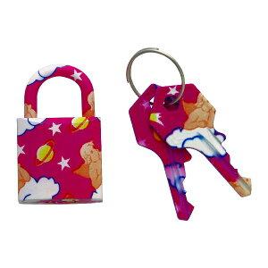 南京錠 鍵 おしゃれ かわいい 粉紅 FUKI フキ ファッショナブルパドロック RP-37 30480437