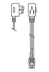 RK585B 遠藤照明 給電コネクター プラグタイプ L=1000mm