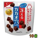 『提携会社直送品』【送料無料(クール便)】名糖産業 冴えるカカオ73 48g 10袋