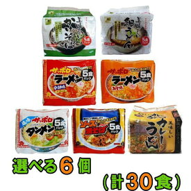 【送料無料(沖縄・離島除く)】スナオシ 袋めん 5食入り×選べる6袋(計30食)