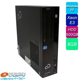 富士通 CELSIUS J520 i5第三世代相当 XeonE3 HDD500GB 8GBメモリ DVD-ROM Office付き Windows10 中古パソコン デスクトップパソコン