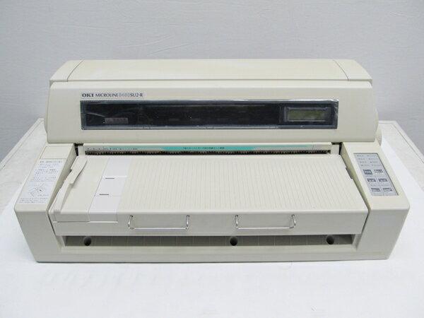 中古ドットプリンター 沖データ OKI MICROLINE8480SU2-R 【中古】 パラレル USB LAN 複写伝票 伝票印刷 送り状 リボン選択可