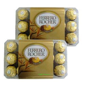 【2箱セット】FERRERO ROCHER フェレロ ロシェ 30粒入りx2箱《1箱1760円》【チョコレート クリスマス バレンタインデー ホワイトデー お返し 義理 お菓子 ラッピング ボックス】