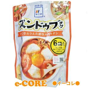 【送料無料】スンドゥプチゲ マイルド 1-2人前 150gx6パック 濃厚あさりダシ 韓国家庭の味 辛さ控えめ