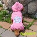 カラフルレインコート/ローズピンク 小型犬用 (M-XLサイズ)【RUISPET ルイスペット】【ゆうパケット送料無料/代引…