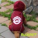 カラフルレインコート/ワインレッド 小型犬用 (M-XLサイズ)【RUISPET ルイスペット】【ゆうパケット送料無料/代引…