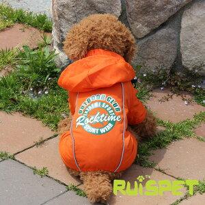 カラフルレインコート/オレンジ 小型犬用 (M-XLサイズ)【RUISPET ルイスペット】【メール便送料無料/代引不可】【犬 服 犬の服 ドッグウェア】 《》【RCP】