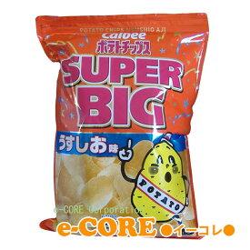 パーティサイズの大容量 カルビーCalbee ポテトチップス うすしお味 スーパービッグ SUPER BIG 500g入 自然結晶塩使用 ※ラッピング不可 《》【RCP】
