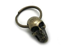 NECROMANCE(ネクロマンス)/Brass Skull Keyring(ブラススカルキーリング)