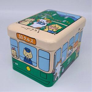 長崎 スイーツ お土産 ギフト かわいい お取り寄せ お礼 長崎銘菓 クルス 10枚入 尾曲がり猫 路面電車缶
