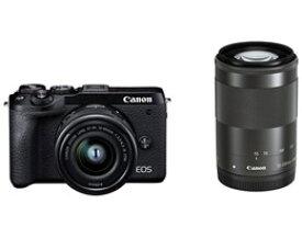 ★キヤノン / CANON EOS M6 Mark II ダブルズームキット [ブラック] 【デジタル一眼カメラ】【送料無料】