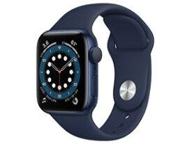 ★アップル / APPLE Apple Watch Series 6 GPSモデル 40mm MG143J/A [ディープネイビースポーツバンド]【送料無料】