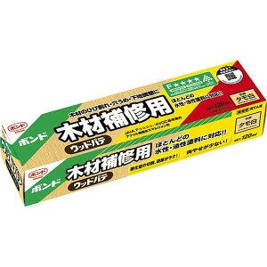 コニシ 木材補修用 ウッドパテ タモ白 120ml ×10個 小箱