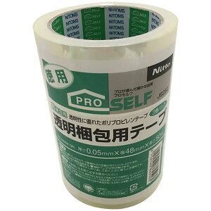 ニトムズ 透明梱包用テープ PK-3500N J6250 3巻