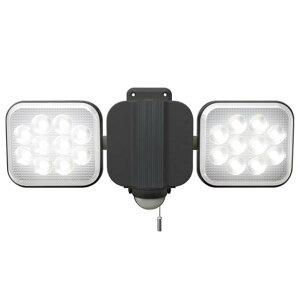 ムサシ MUSASHI ライテックス12Wx2灯 LEDセンサーライト 2000ルーメン 2000lm LED-AC2024 ガレージライト 防犯 玄関 庭 ガーデンライト