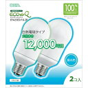オーム EFA25ED/18-2P 電球型蛍光灯 A形100形相当 E26 昼光色 2個入りエコデンキュウ EFA25ED182P