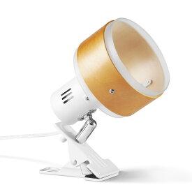 BRIDGES ブリッジズ クリップライト 白 ホワイト ナチュラルウッド 木目 E26 シンプル ナチュラル モダン インテリア 60Wまで 簡単取付 看板 スポットライト 間接照明 コンセント式 おしゃれ 寝室 インテリア照明 BCL05NW 電球別売
