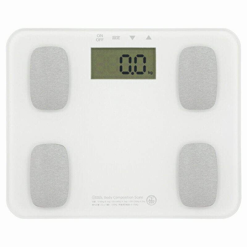 オーム電機 HB-K126-W 体重体組成計 ホワイト [品番]08-0029 HBK126W