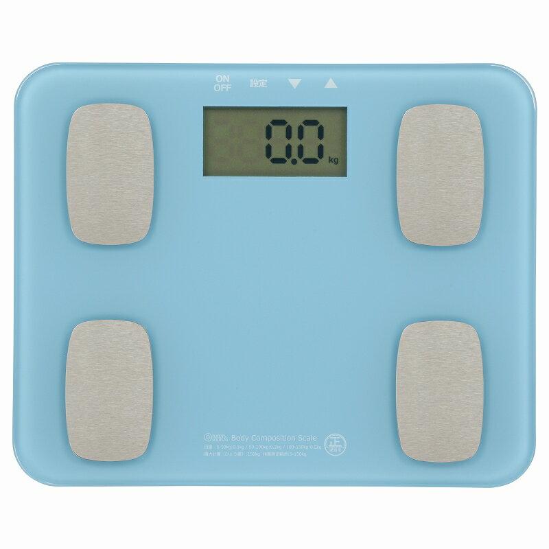 オーム電機 HB-K126-A 体重体組成計 ブルー [品番]08-0031 HBK126A