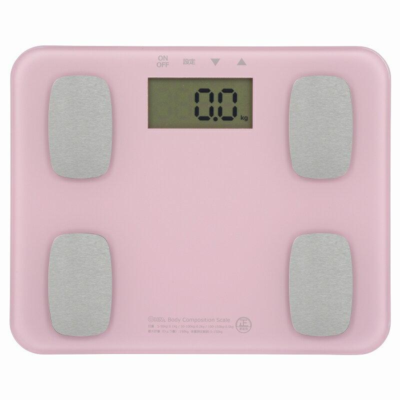 オーム電機 HB-K126-P 体重体組成計 ピンク [品番]08-0032 HBK126P