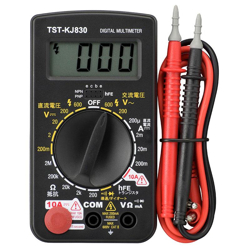オーム電機 デジタルテスター 普及型 TST-KJ830 品番 08-1288