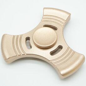 【メール便可】【新品】 ハンドスピナー アルミ製 ゴールド 金
