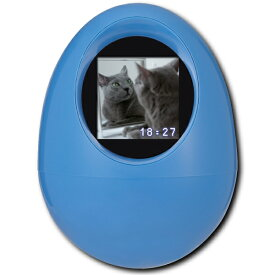 【アウトレット】 PPF-OVOB プリンストン デジタルフォトフレーム 1.5インチ ブルー スライドショー 時計 時刻表示 内蔵バッテリー USB充電