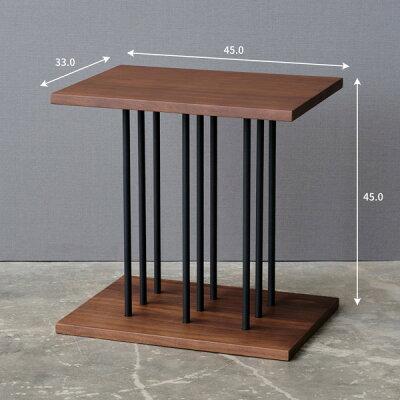 サイドテーブルナイトテーブル完成品鉄アイアン寝室ベッドソファワンルームスリムおしゃれ幅33cm×45cm送料無料STRIPESIDETABLESTEEL-BKストライプサイドテーブル-[ISSEIKI一生紀][キャッシュレス還元]