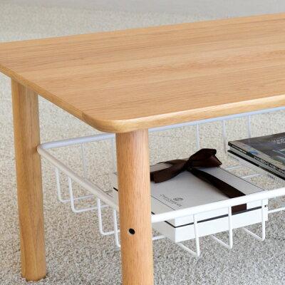 センターテーブルローテーブルリビング北欧風完成品ラック付き収納長方形デザイナーズ在宅雑誌掲載幅100高さ37奥行50ナチュラル女性一人暮らしソファ