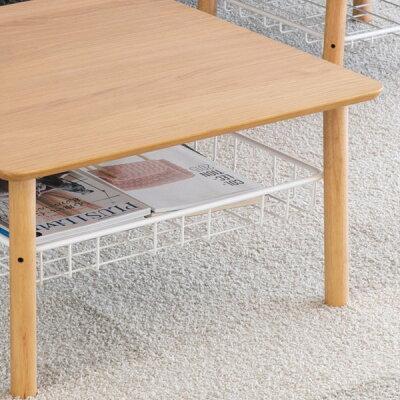 センターテーブルコーヒーテーブルリビング北欧風完成品シンプルラック付き収納長方形デザイナーズ在宅雑誌掲載幅70高さ37奥行50ナチュラル一人暮らし