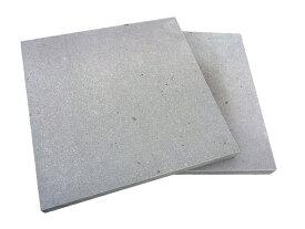 ピザ窯の床(底板)に!溶岩板石A級400×400×30(無穴溶岩)(マット仕上げ)【2枚セット】【送料無料】【表面角面取り】