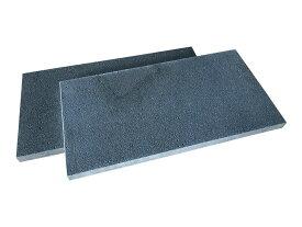 ピザ窯の床(底板)に!溶岩板石A級品300×600×30(無穴溶岩)(マット仕上げ)【2枚セット】【送料無料】【表面角面取り】
