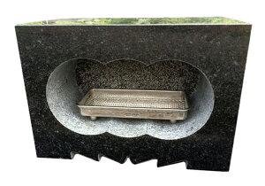 【特価】【黒御影石】【浮金石】【福島県産】墓石用 角型 香炉サイズ約幅30×奥行15×高さ21cm【送料無料】【自社茨城工場加工】【空気穴加工】【磁石プレゼント】