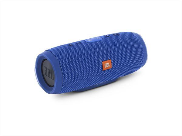 防水 ワイヤレス スピーカー Bluetooth スピーカー JBL CHARGE3 ブルー 【JBLCHARGE3BLUEJN】 【送料無料】 重低音 大音量 野外 ブルートゥース スマートフォン スピーカー 【1年保証】