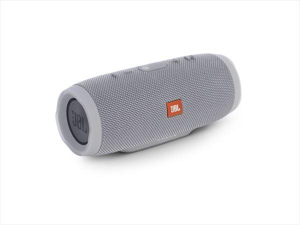 防水 ワイヤレス スピーカー Bluetooth スピーカー JBL CHARGE3 グレー 【JBLCHARGE3GRAYJN】 【送料無料】 重低音 大音量 野外 ブルートゥース スマートフォン スピーカー 【1年保証】
