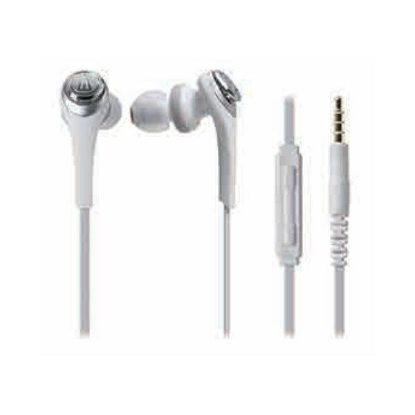 audio-technica(オーディオテクニカ) SOLID BASS ATH-CKS550 i WH/ホワイト【イヤフォン イヤホン カナル型】Apple製品対応リモートコントローラー付き】