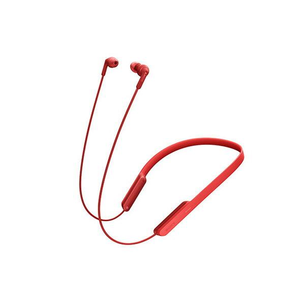 【ポイント5倍】 Bluetooth ブルートゥース ワイヤレス イヤホン SONY ソニー MDR-XB70BTR レッド 【送料無料】 ネックバンド型 【1年保証】