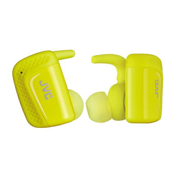 JVC HA-ET900BT-Y イエロー スポーツタイプ Bluetoothイヤホン 完全ワイヤレス 両耳 防水 左右分離型 スポーツ向け イヤフォン 【送料無料】