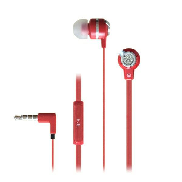 イヤホン iPhone MUIX(ミュイクス) IX1000 (レッド) 1台で2つの音色を楽しめる2WAYイヤホン イヤフォン【DUAL SOUND SYSTEM搭載】断線しにくいフラットケーブル採用