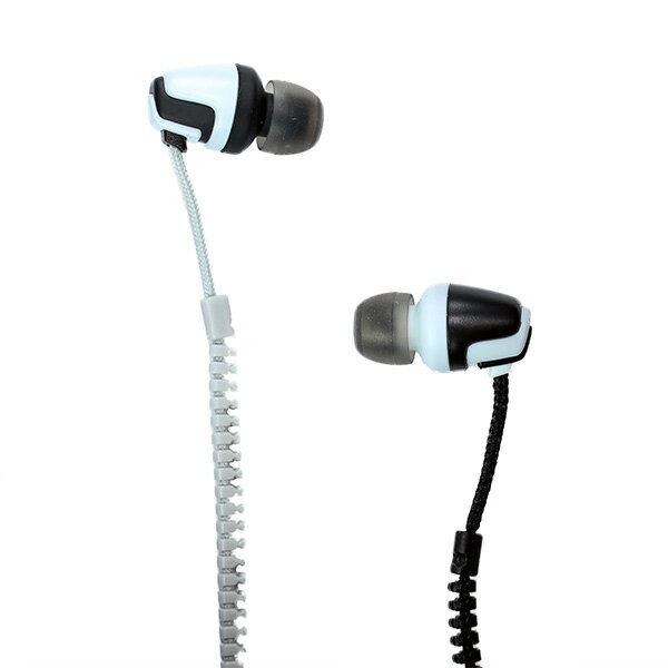ジッパーイヤホン NAGAOKA(ナガオカ) Fastener Cord Earphone P-705 ブラック【P-705/BK】ファスナータイプの絡まりにくいイヤホン イヤフォン