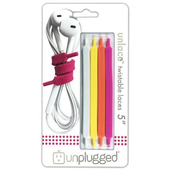 【お取り寄せ】unplugged(アンプラグド) UNLACE5 citrus (4本1組 靴紐型)