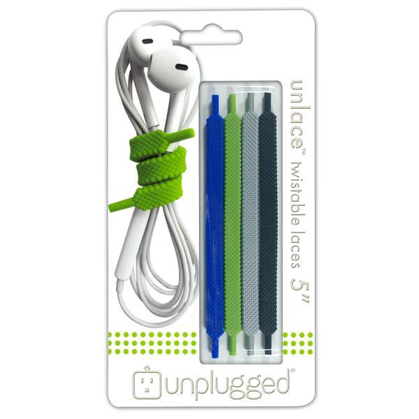 【お取り寄せ】unplugged(アンプラグド) UNLACE5 forest (4本1組 靴紐型)