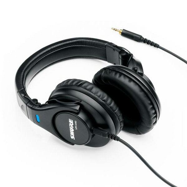 【期間限定特価!】 SHURE シュア モニターヘッドホン SRH440 折りたたみ可能なヘッドフォン