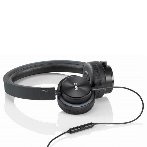 AKG(アカゲ) Y40BLK(ブラック) おしゃれなヘッドホン/スマートフォン対応ヘッドホン/密閉型ヘッドホン(ヘッドフォン)
